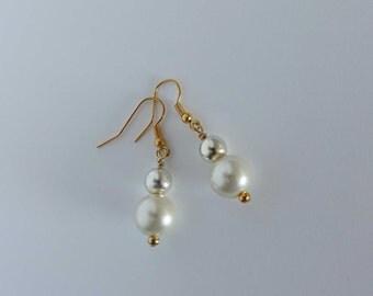 Pearl earrings, Bridesmaid earrings, Wedding drop earring,Pearl Dangle Earrings,