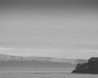 Deception Pass State Park, Whidbey Island, WA - Black & White Photography Print