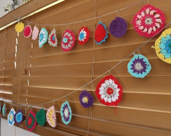 Crochet Circle Garland