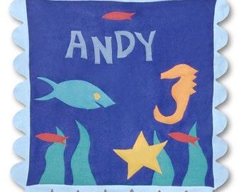 "Little Moonjumper ""Wish On a Fish"" Baby Blanket- stroller"