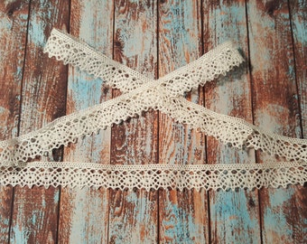 Style# 102   Delicate Cotton Crochet Trim  5 yard bundles