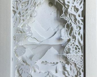 Shadow box, diorama, 3D framework, A Fairytale
