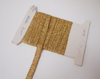 Gold shiny glitter ribbon 1cm