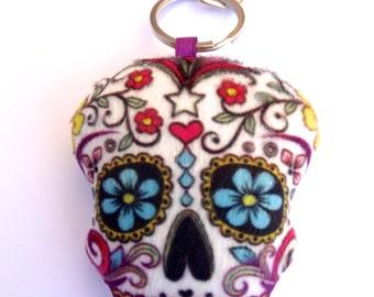Sugar Skull (Calavera) Stuffed Keychain