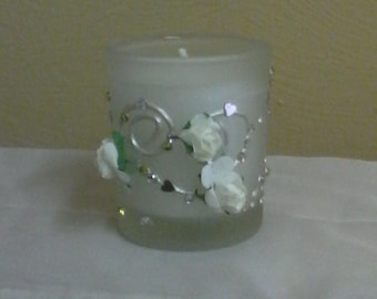 Rose scented votive candle