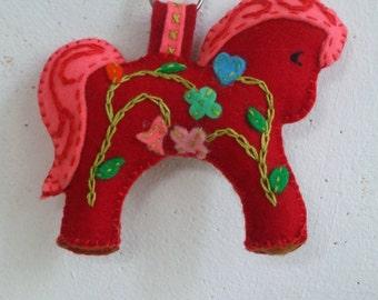 Felt Keychain horse