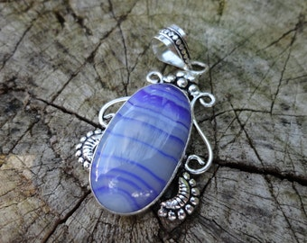 """Purple promo 20% """"agate collection"""" pendant, 925 Silver"""