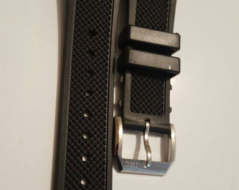 22mm rubber strap with buckle for IWC pilot watch.new