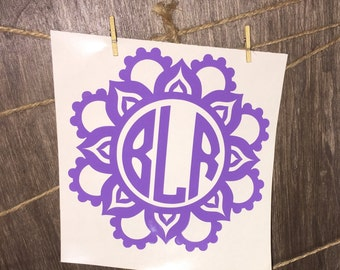 Mandala Vinyl Monogram Decal