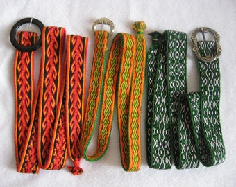 Belts, woven on the tablets (to order)