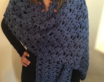 Crochet Romantic Lace Shawl/Wrap/Scarf