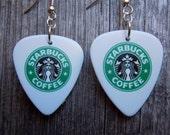 Starbucks Guitar Pick Earrings