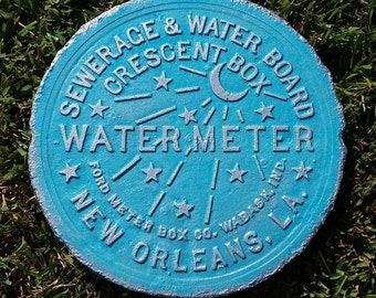 New Orleans Water Meter Cover - Turquoise & Silver 30A