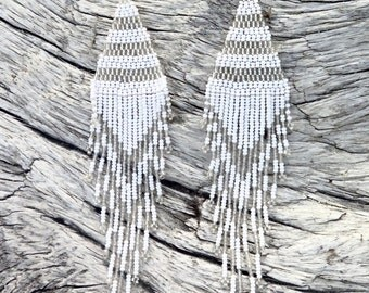 White Goddess Earrings