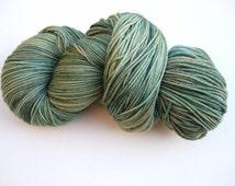 """Hand Dyed Yarn, 100g, Superwash Merino/Cashmere/Nylon Sock Weight, """"Pine Forest"""""""