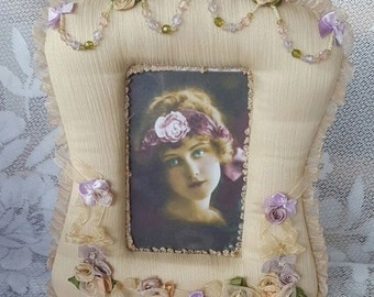 Victorian Shabby Chic Photo Frame, Home Decor. Frame Photo Vintage,Lace Picture Frame