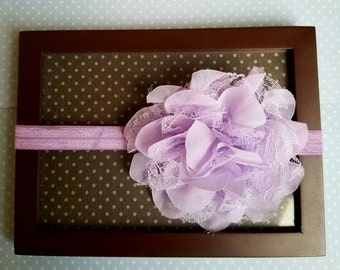 Purple Newborn flower headband