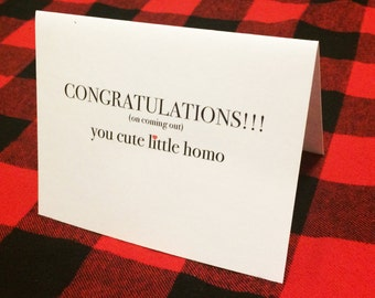 Congratulations coming out LGBTQ card