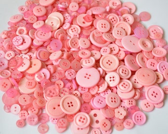 LIGHT PINK - Plastic Buttons / Assorted Buttons - 50g, 100g, 300g, 500g.
