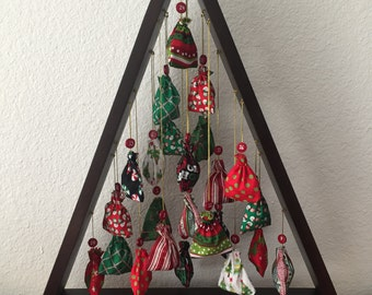 Christmas Tree Advent Calendar, Wooden Advent Calendar, Advent Calendar, Christmas Decorations, Christmas Center Piece,Calendars