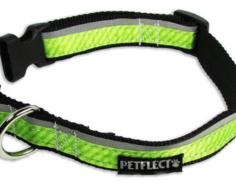 Lime Green Reflective Dog Collar