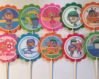 12 Team Umizoomi birthday decor, Team Umizoomi party decorations, Team Umizoomi cupcake toppers or party tags