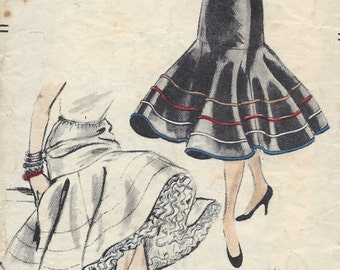 1955 Vintage VOGUE Sewing Pattern W24-30 SKIRT PETTICOAT Elastic Waist (1252) Vogue 8299