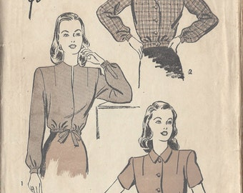 "1940s Vintage Sewing Pattern LUMBERJACKET B30"" (R258) Advance 3946"