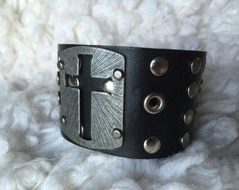 Cross cuff bracelet- price reduced