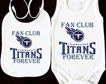 Newborn Tennessee Titans Light Blue Team Logo Bodysuit