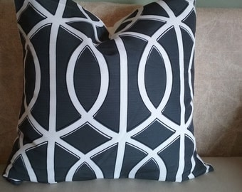 Gray pillow cover, gray and white pillow, charcoal, gray and white, pillow cover, decorative pillow, accent pillow, home decor