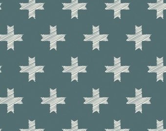 Art Gallery Fabrics, Heartland by Pat Bravo, Unn Cross in Pine Colorway, Quilting Cotton