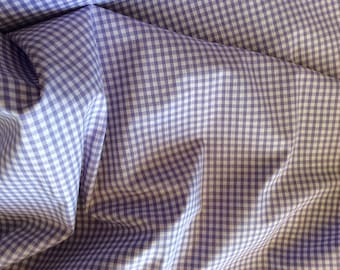 High quality Gingham polycotton poplin. lavender no27