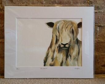 Barbara, Sheep, mounted paper print, limited edition