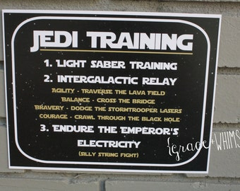Jedi Training - Star Wars - party sign