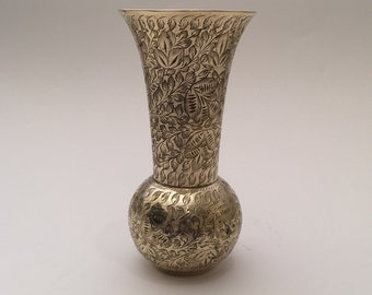 Gold Etched Vintage Vase