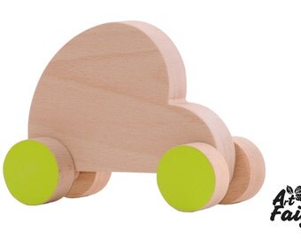 Car of wood for children. Car slide for children. Handmade. Birthday gift. Customizable.
