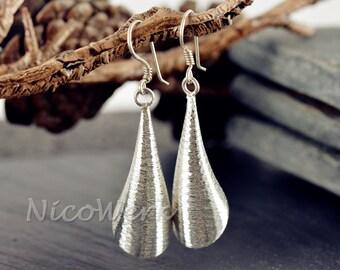 Plain Silver earrings women's jewelry earrings ear jewelry 925 gift 322