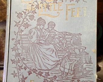 "Antique Book -  ""Easy Steps for Little Feet From Genesis to Revelation"" - 1896 Vintage Books Bibles Sunday School Antique Ephemera Old Paper"