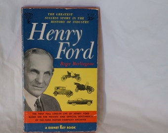 Henry Ford - First Edition Paperback 1956