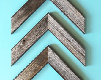 Reclaimed Barn Wood Chevron Arrows - Set of 3