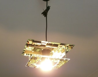 Ceiling lamp from PC hardware / recycling / TechnicLamp