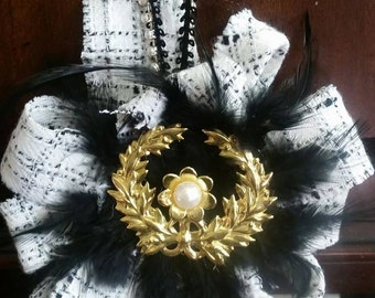 chanel style hanging ornament