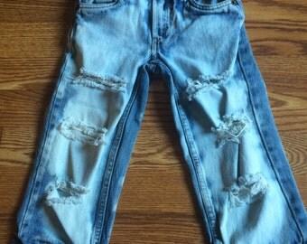 Toddler destroyed denim Jeans