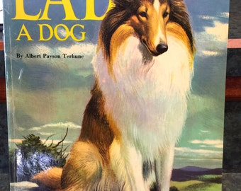 "Lad A Dog 1957 Hardback Book ""A Story about a Collie Dog"""