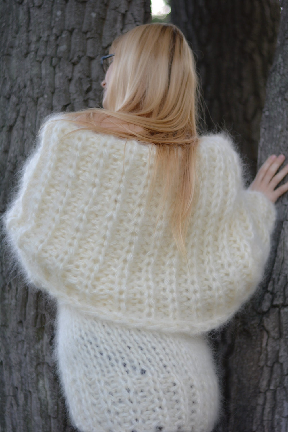 ORDER hand knitted mohair sweater fuzzy mohair pullover chunky