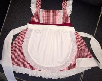 Girls white apron