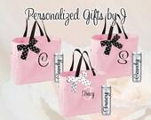 9 Bridesmaid Totes and Tumblers Set, Bridesmaid Gifts, Bridesmaid Bags, Skinny Tumblers, Bridal Party Gift, Wedding Bag