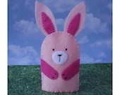Special Listing for Diana - Custom Sized Pale Pink Bunny Finger Puppet