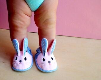Elastic Baby Booties, Bunny Baby Shoes, Rabbit Baby Booties, Chubby Bunny 18